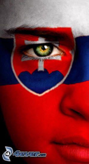 fan, bandera de Eslovaquia, signo, escudo de armas