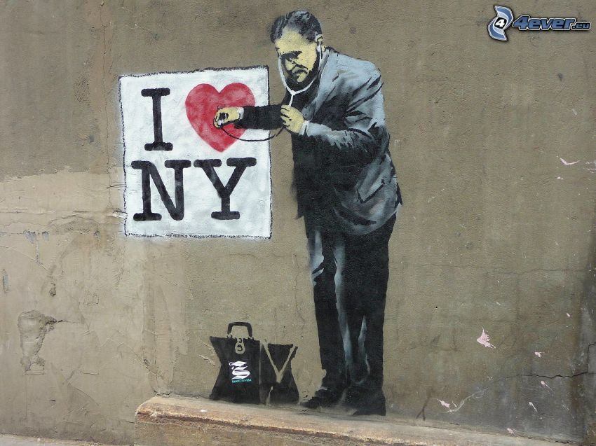 I love NY, grafiti, médico