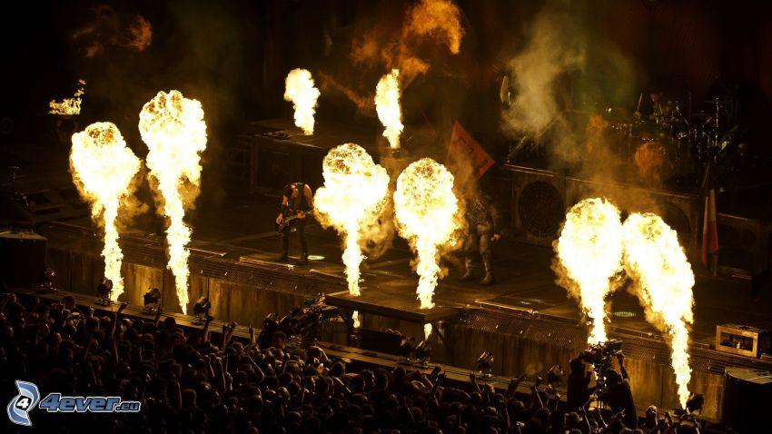 concierto, fuego