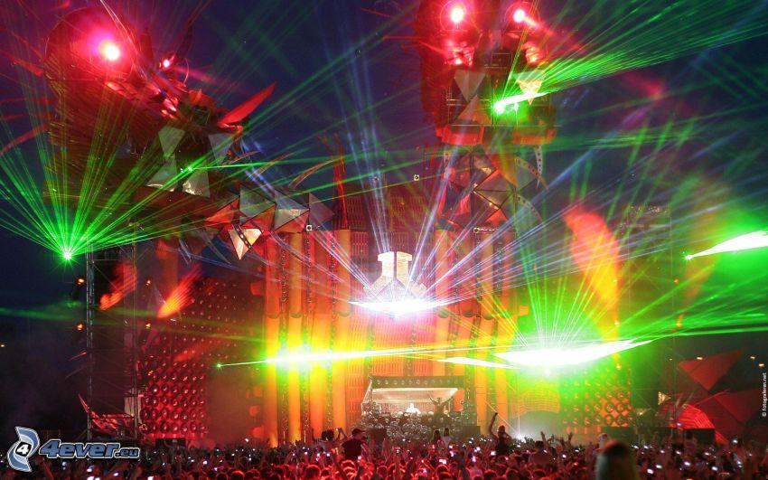 concierto, luces, megafiesta
