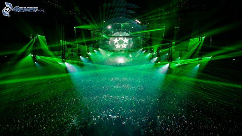 concierto, luces