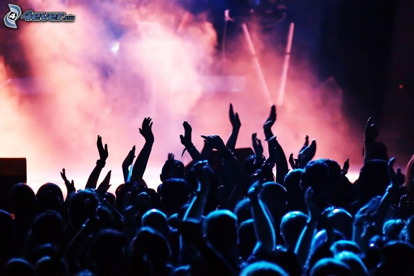 concierto, multitud