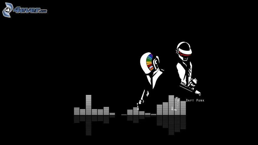 Daft Punk, dibujos animados, equalizer