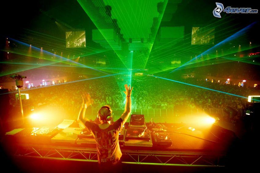 discoteca, luces, DJ, megafiesta