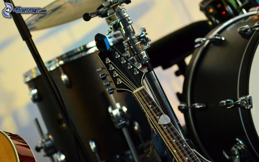 guitarra, batería