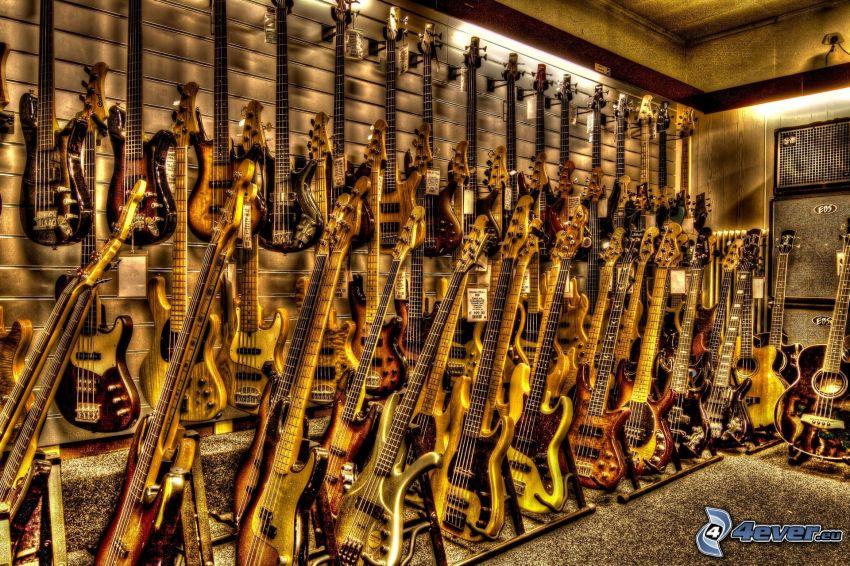 guitarras eléctricas, HDR