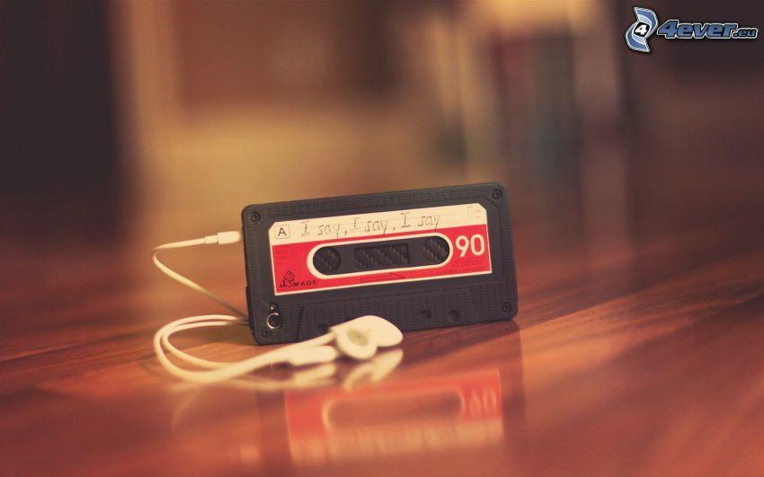 mp3, casete, auriculares