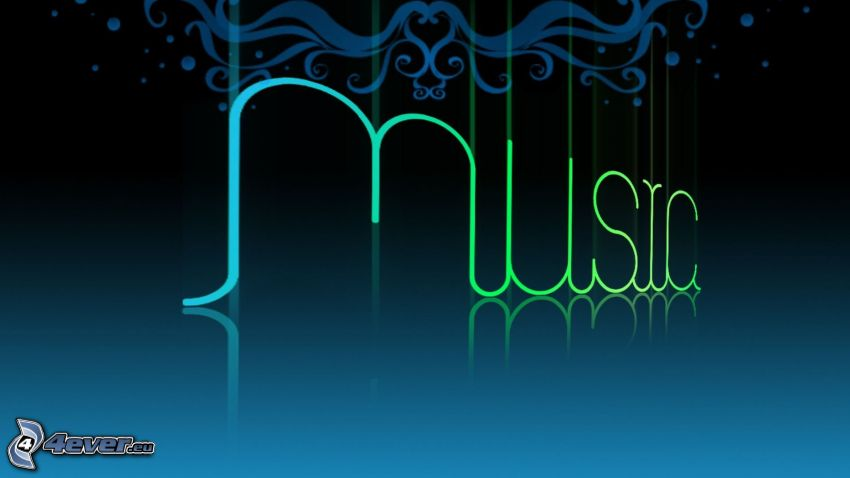 music, fondo azul