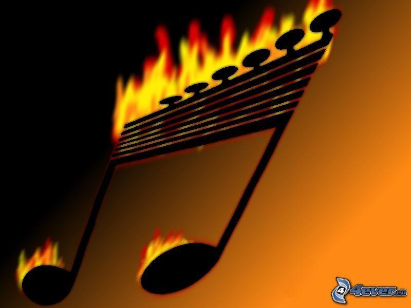 nota, fuego