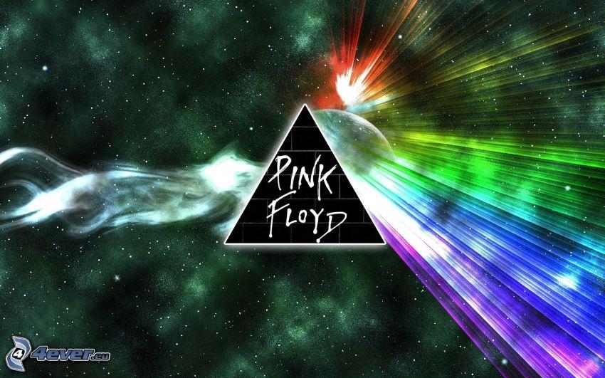 Pink Floyd, universo, colores del arco iris, refracción