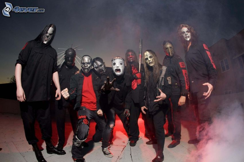 slipknot, banda, máscaras