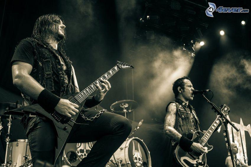 Trivium, concierto, Foto en blanco y negro