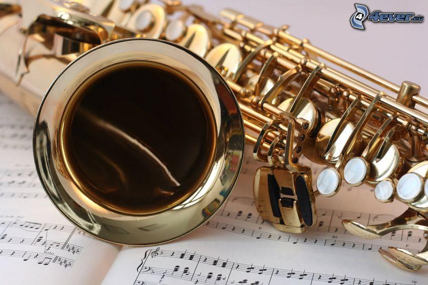trompeta, notas de música