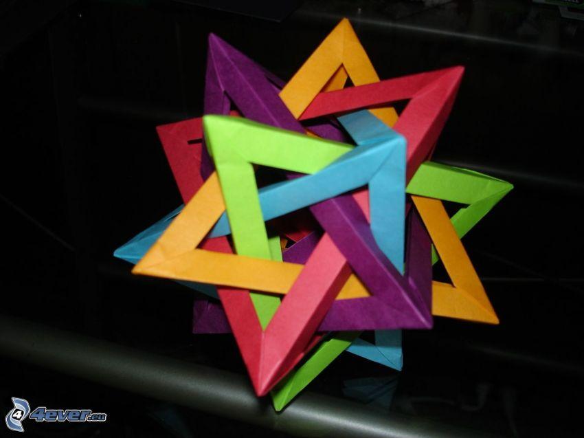 origami, papel de color