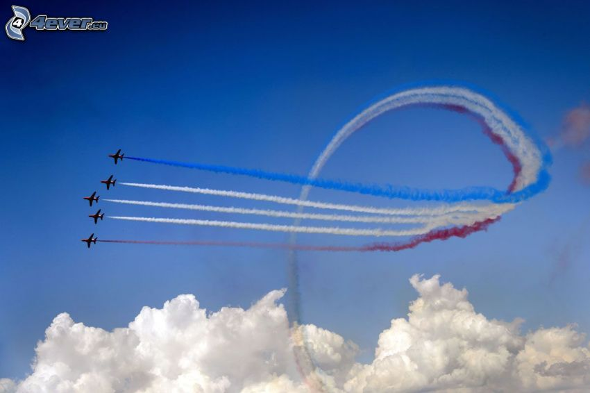 air show, nubes