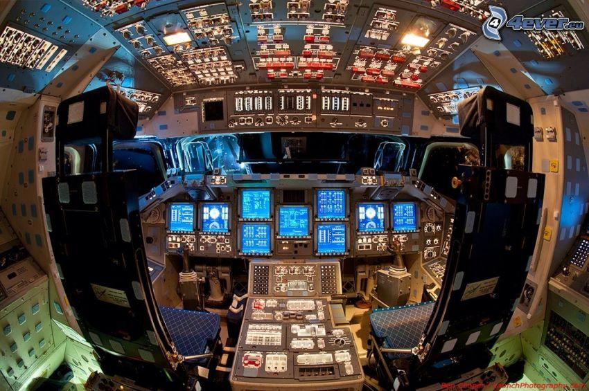cabina de piloto, Endeavour, transbordador espacial