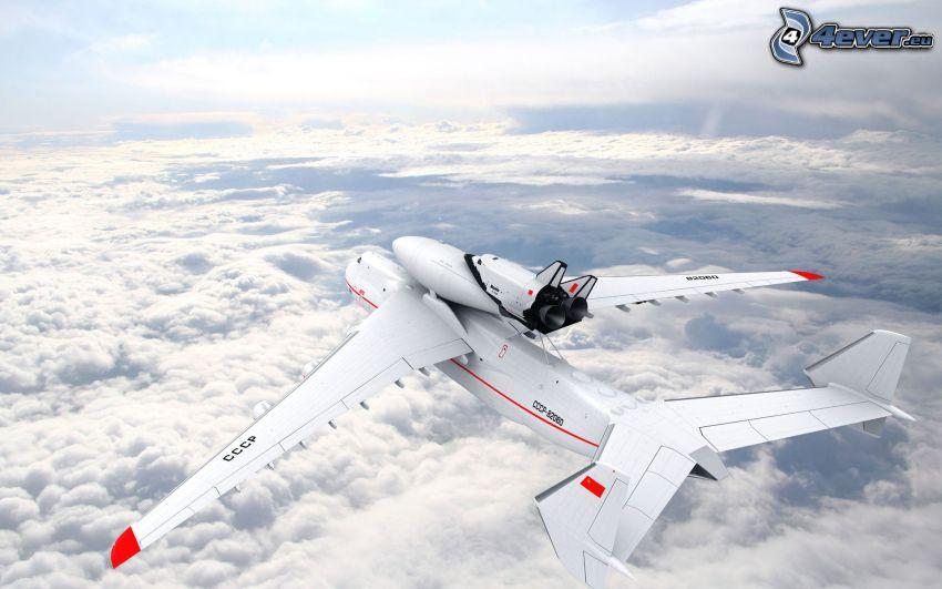 Antonov AN-225, transbordador espacial, nubes