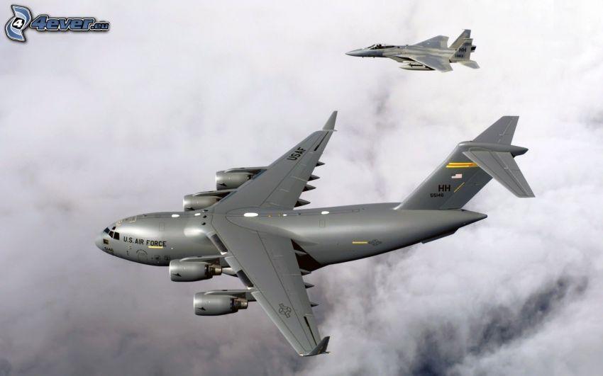 avión, avion de caza