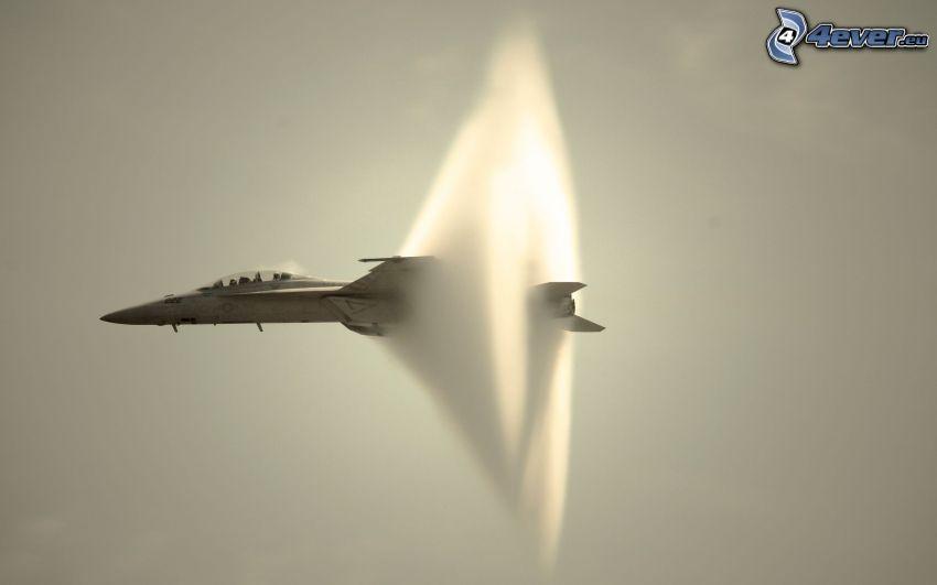 avion de caza, sepia