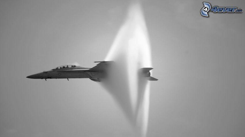 barrera del sonido, avion de caza