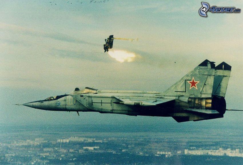 evacuación, MiG-25