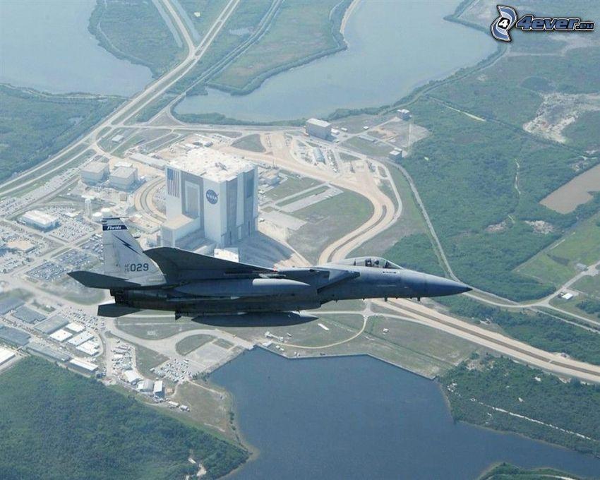 F-15 Eagle, NASA Vehicle Assembly Building, Centro espacial John F. Kennedy