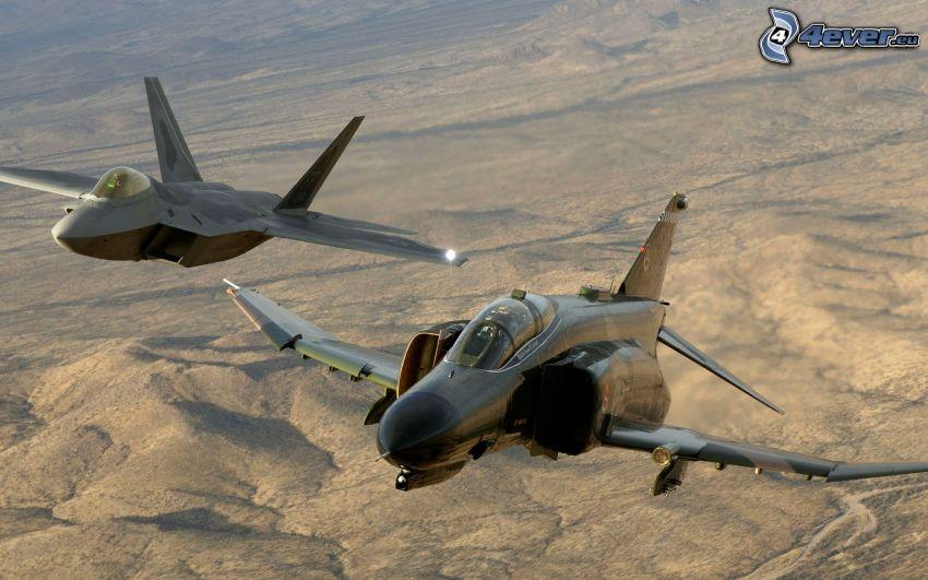F-4 Phantom II, F-22 Raptor