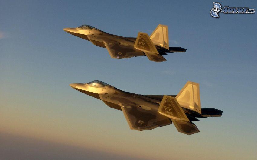 La flota de F-22 Raptor, formación