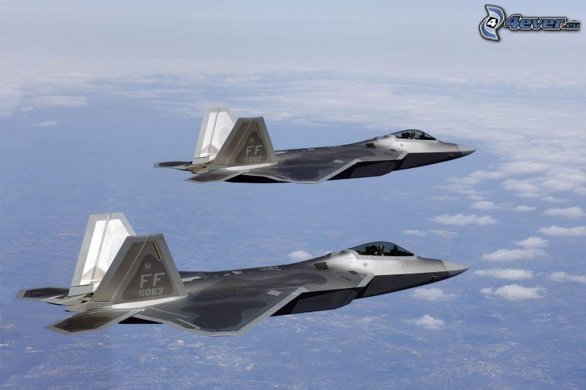 La flota de F-22 Raptor