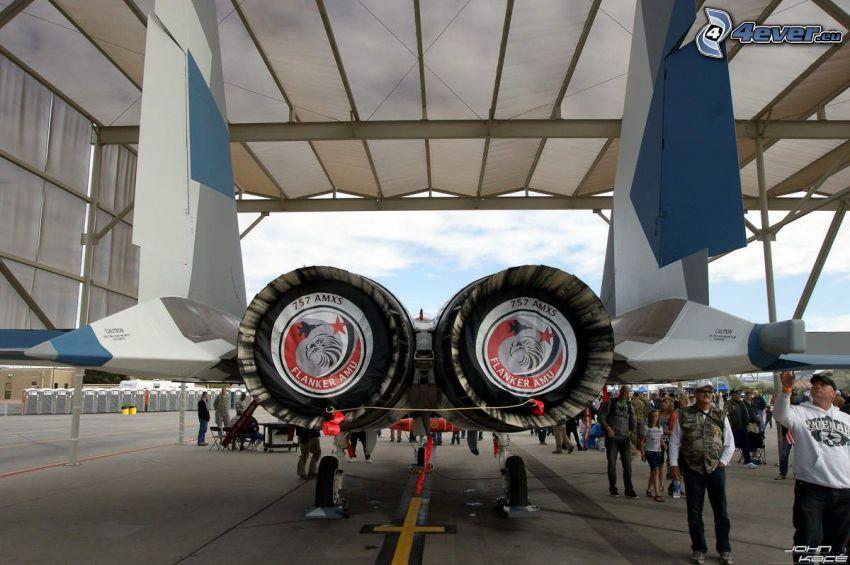motores de coriente, avion de caza