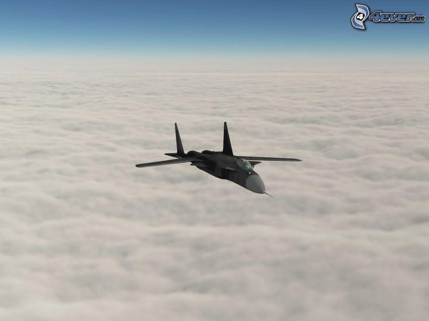 Sukhoi Su-24, encima de las nubes