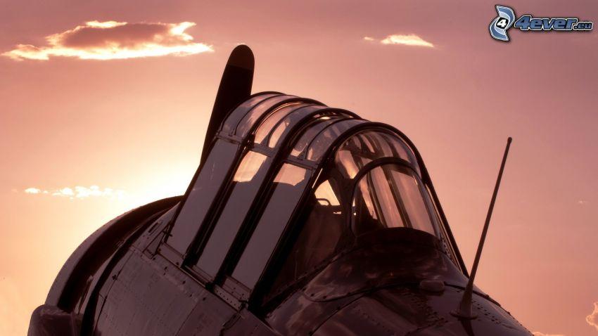 avión, cabina de piloto
