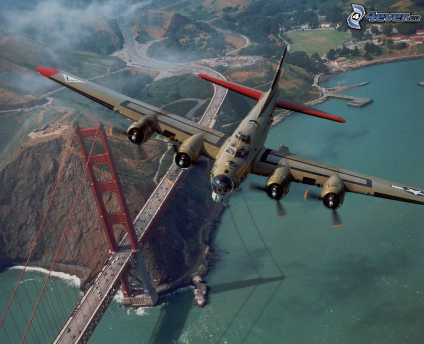avión, Golden Gate