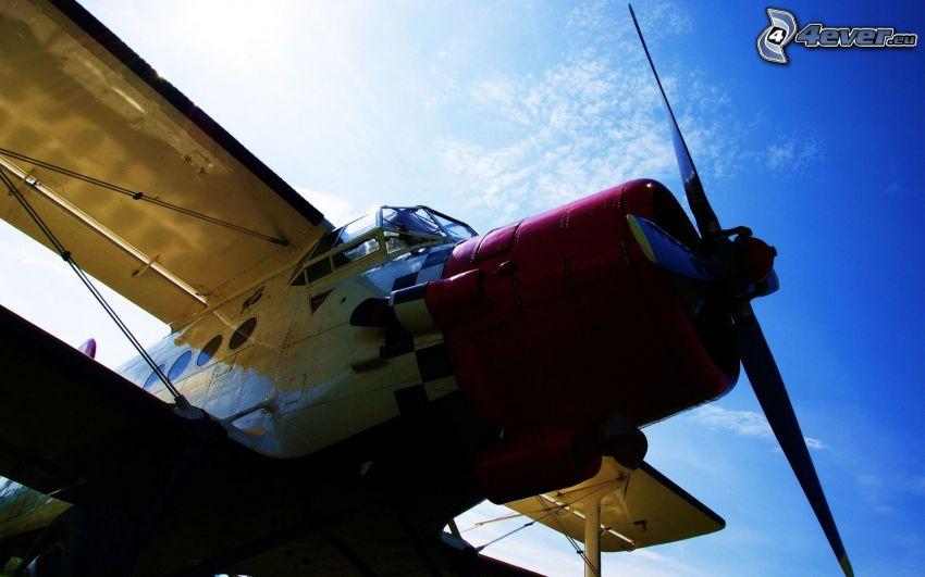 avión, hélice