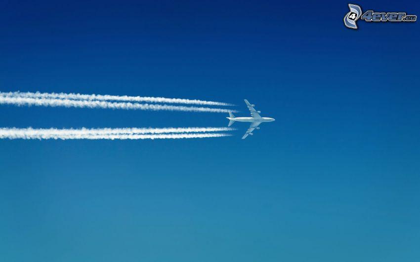 avión, marcas de condensación