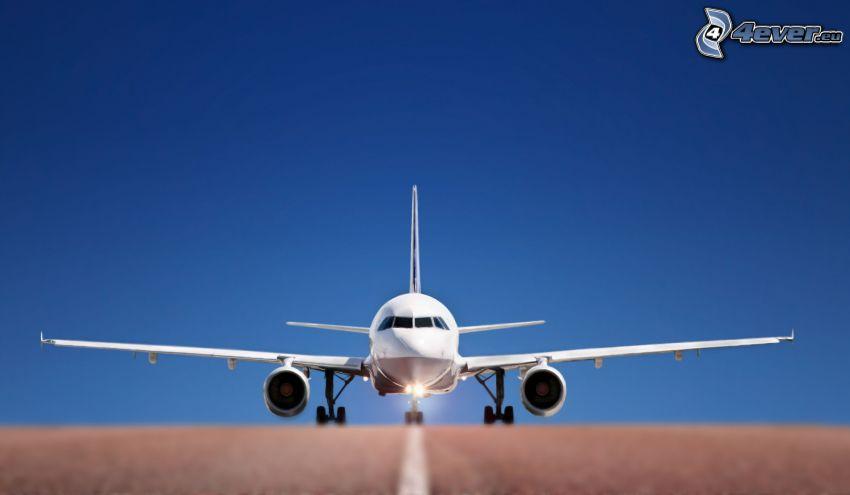 avión, pista