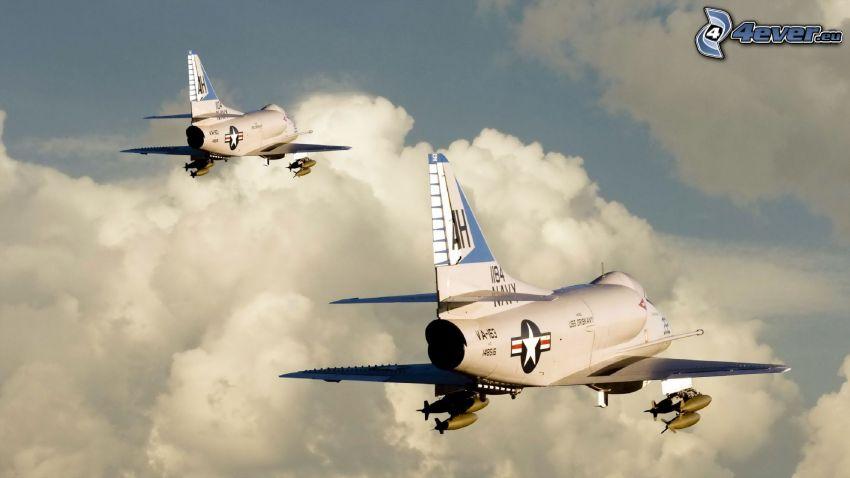 aviones, nubes