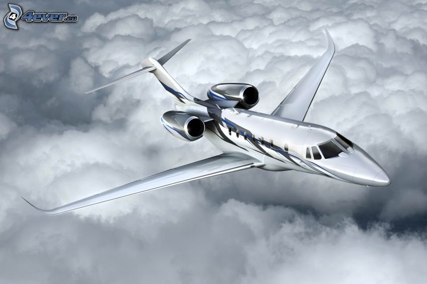 Citation X - Cessna, encima de las nubes