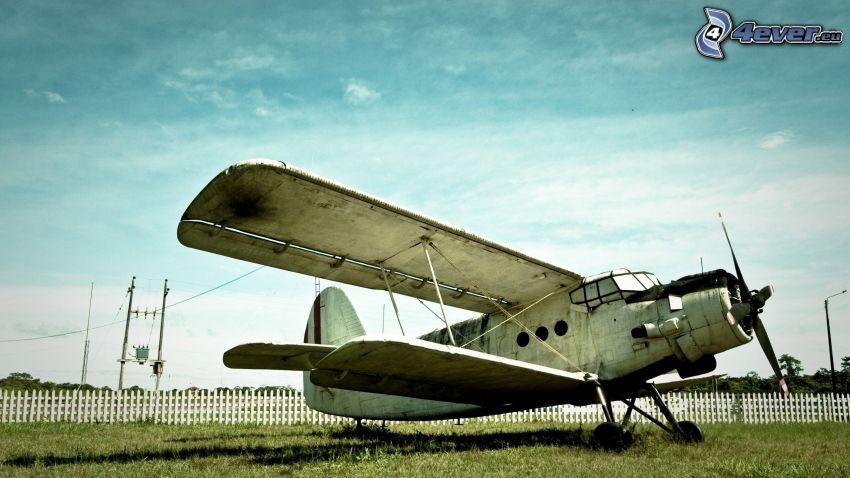 biplano, avión