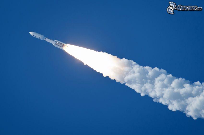 cohete, marcas de condensación
