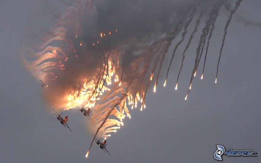 guerra de aviones, accidente