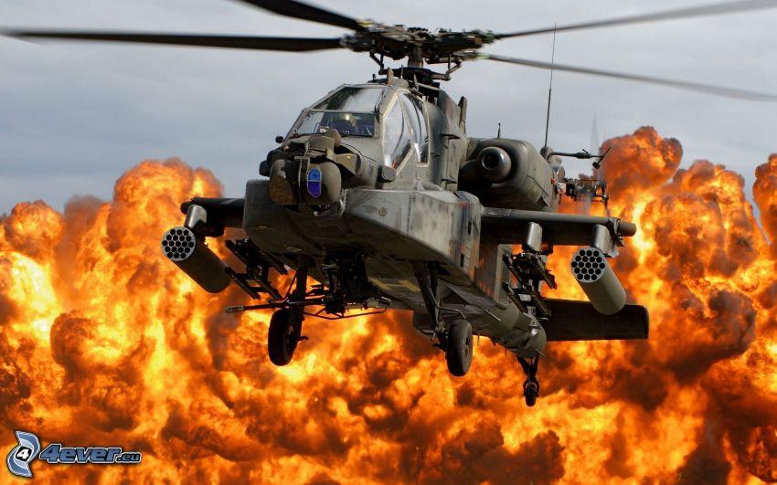 AH-64 Apache, fuego