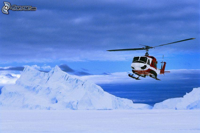 Antártida, helicóptero de rescate