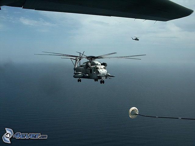 helicóptero militar, Golfo Pérsico, reabastecimiento en vuelo