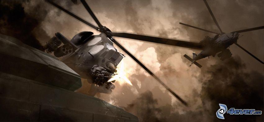 helicópteros militares