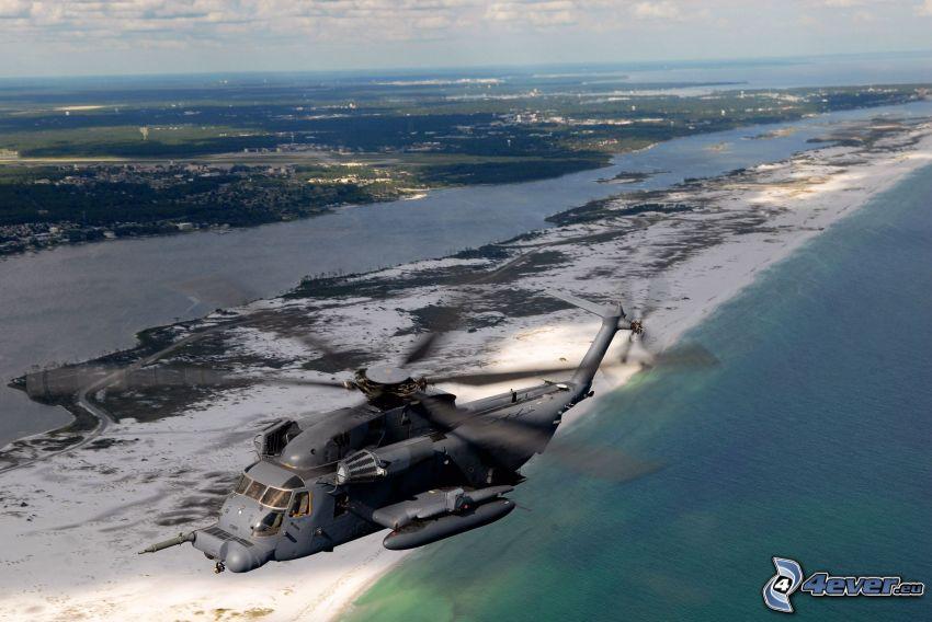 MH-53J Pave Low IIIE, helicóptero militar, mar