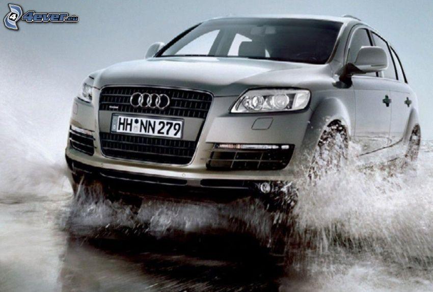 Audi, SUV, agua