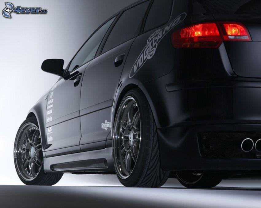 Audi A3, ruedas, escape, luz trasera