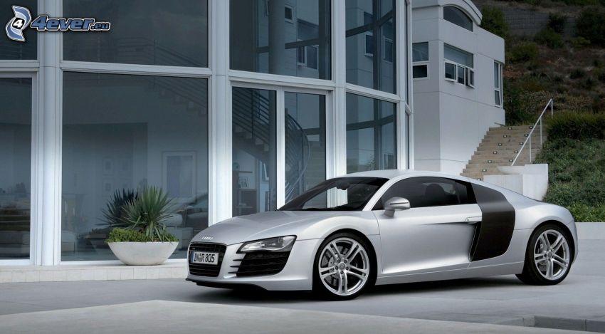 Audi R8, edificio, ventanas