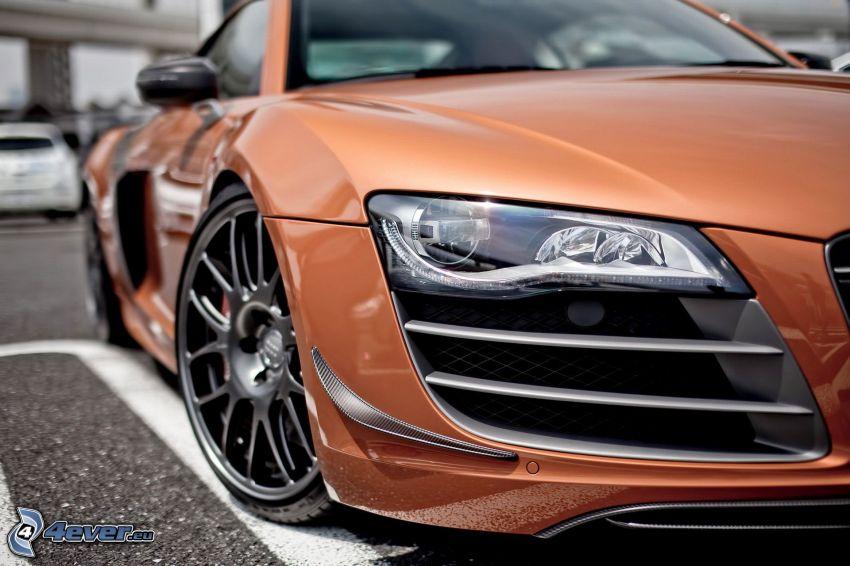 Audi R8, faro delantero